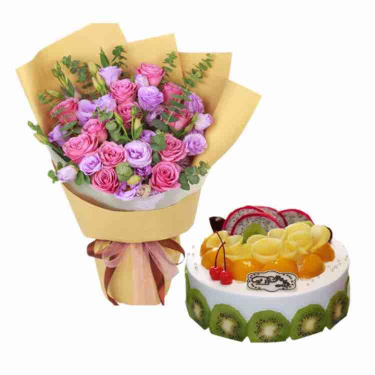天津南开区七彩优品鲜花蛋糕
